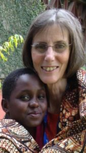 Ally Harris with her sponsored child Happiness in Tanzania